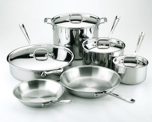 All Clad 10pc Tri-Ply Cookware Set
