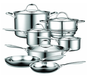 Cooks Standard 12pc Multi-Ply Cookware Set