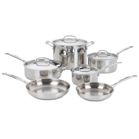 Cuisinart Chefs Classic10 Piece Stainless Steel Cookware Set